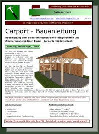 satteldach carport bauanleitung. Black Bedroom Furniture Sets. Home Design Ideas