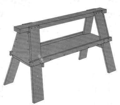 der besondere arbeitsbock mit zwischenfach anleitung zum. Black Bedroom Furniture Sets. Home Design Ideas