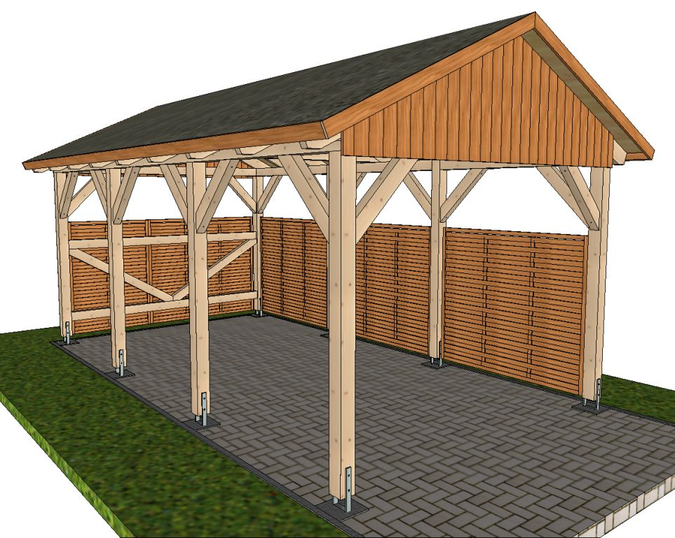 Bauplan pergola interesting amazing carport selber bauen